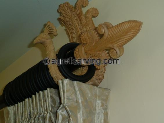 Bird bracket - Armand Rateau inspired deco valance/pelmet by Agrell woodcarving