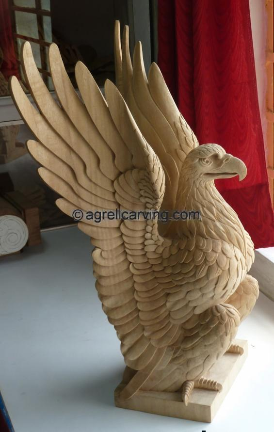 Carved Wood Eagle.