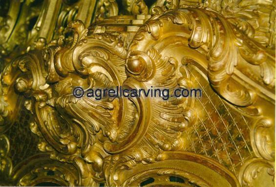 Gilt Rococo Cartouche for the centre of fire surround (chimney piece) for the Getty residence by Agrell woodcarving_0.jpeg