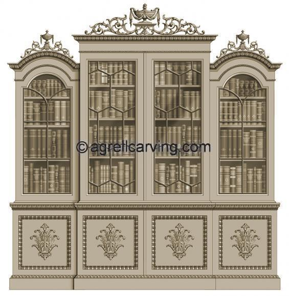 Neoclassical bookcase