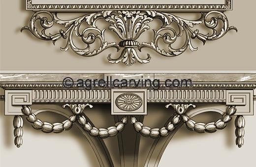 Neoclassical console table