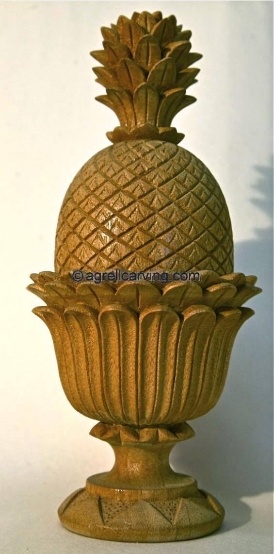 Top Pineapple finial Agrell woodcarving | The Decorative Arts Library  BJ89