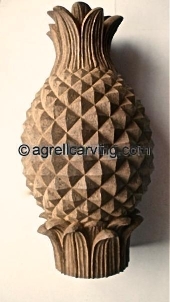 Very best Pineapple finial Agrell woodcarving | The Decorative Arts Library  KY16