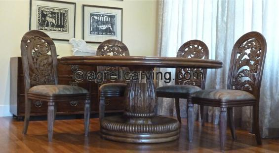 Deco dining table and chairs