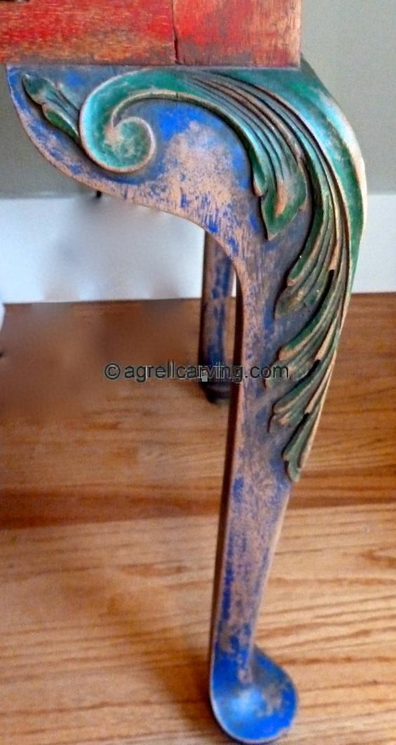Queen Anne style table leg