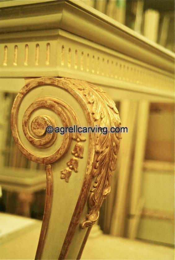 Furniture Legs 18th Century Table Acanthus Gild Colour