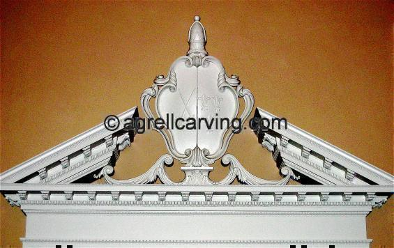 18th Century Fulham Palace Split Pediment