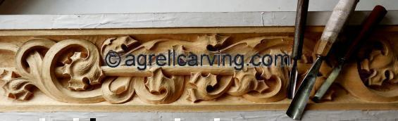 Choir stall carving
