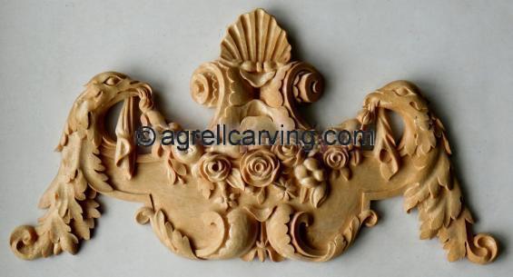 Swags appliques rose eagle shell door france aix en provence agrell