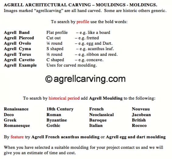 Agrell mouldings search