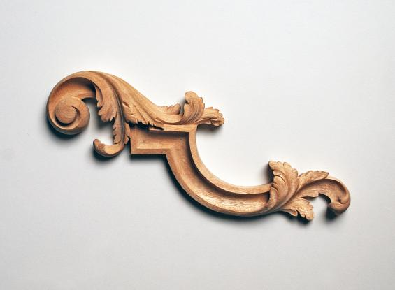 French Louis-Style Acanthus-Leaf Scroll Appliqué