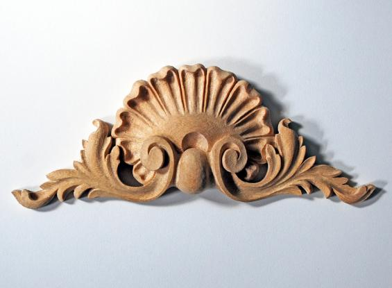 High-Relief Shell Pediment Appliqué