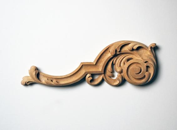 French-Style Acanthus-Leaf Scroll Appliqué