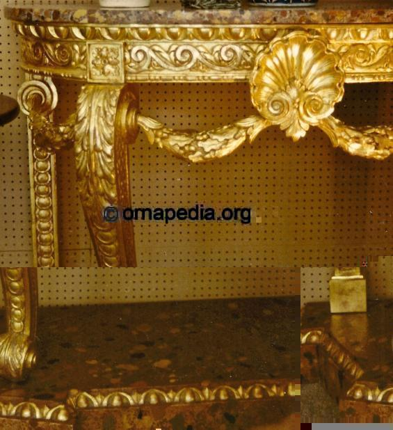 18th Century gilt console table.