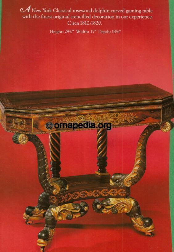 19th century console table.
