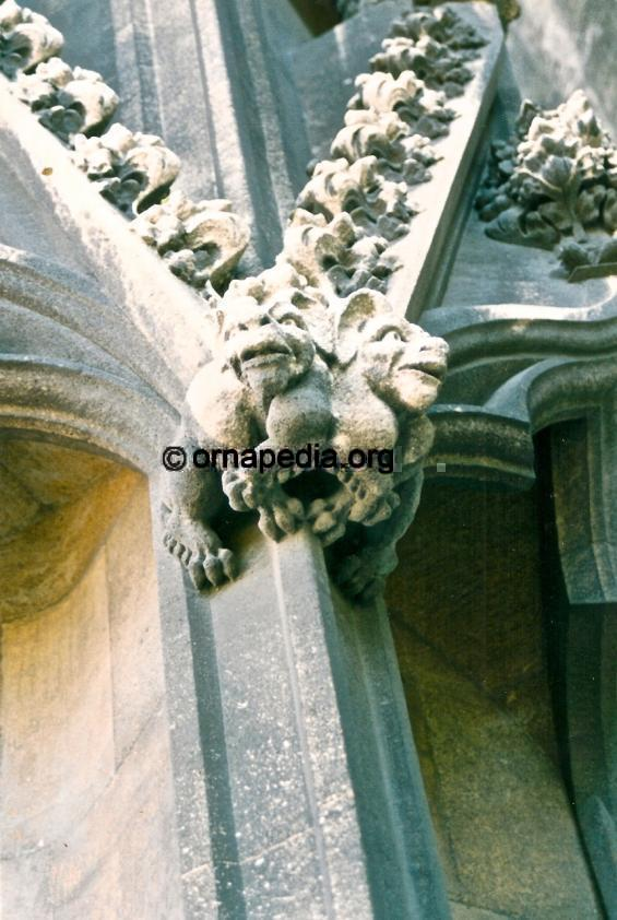 Stone carved grotesque