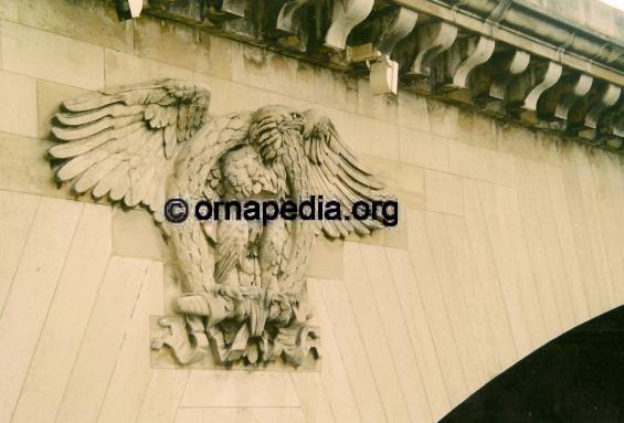 Stone carved eagle