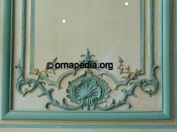 Ornapedia French Versailles Woodcarving Painted Wall