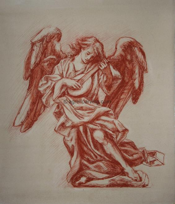Drawing of angel