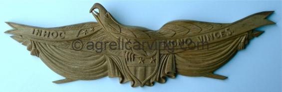 Carved Wood Eagle.
