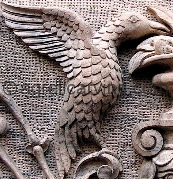 Bird throne detail.
