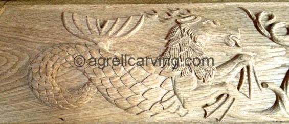 Dragon panel.