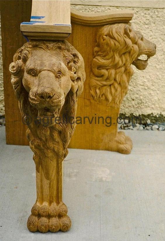 Lion chair detail.