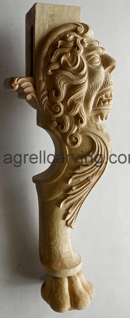 Lion chair leg detail.