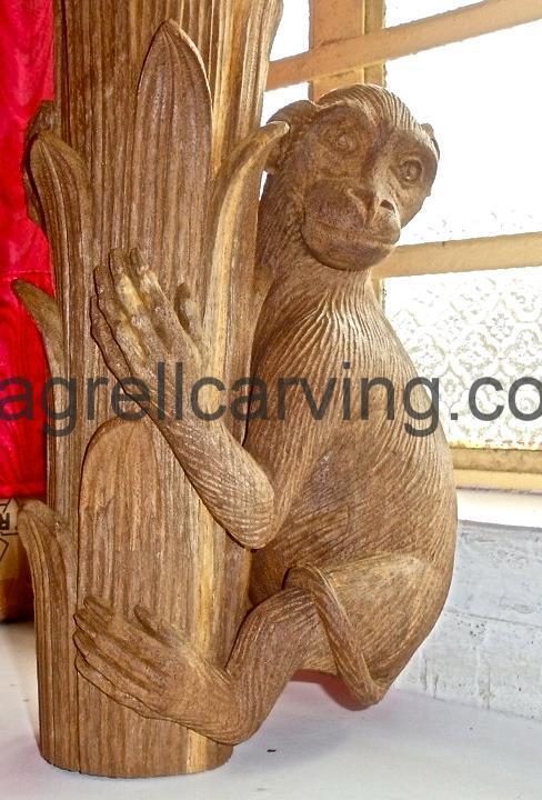 Monkey table leg.