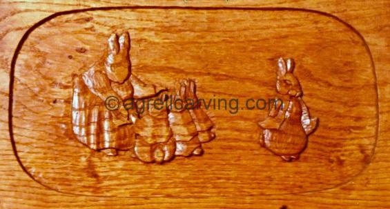 Rabbit bed panel.