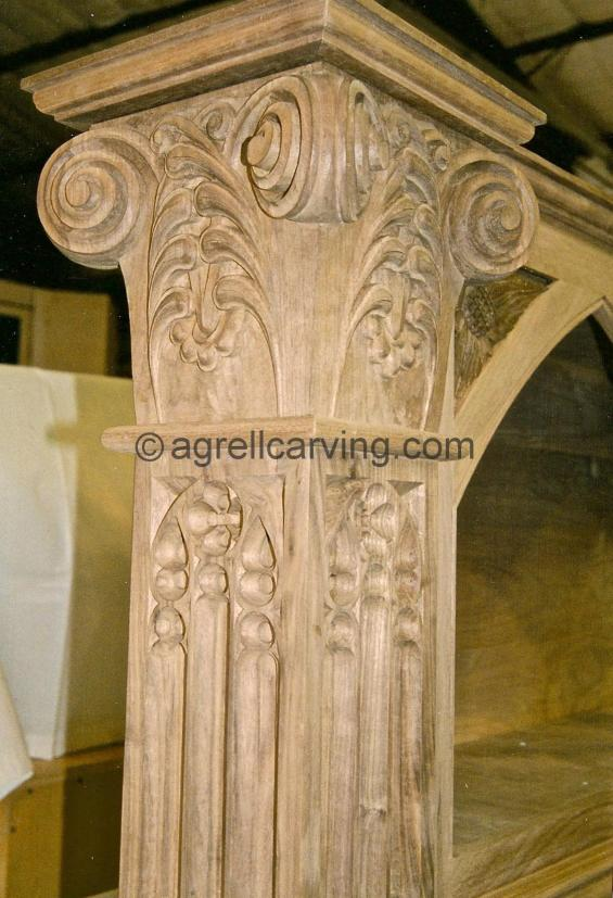 Gothic column and capital