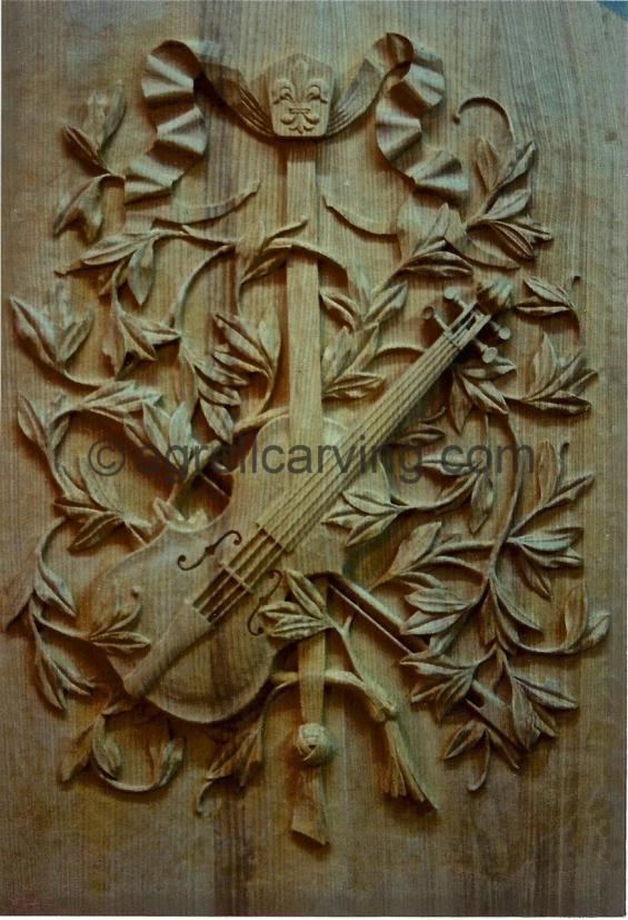 laurel leaf and violin