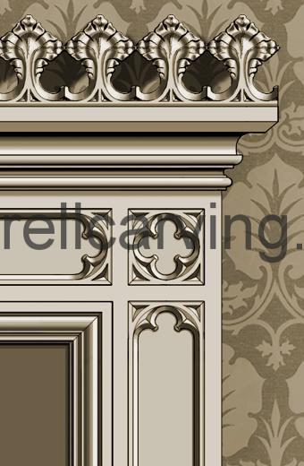 Gothic door casing