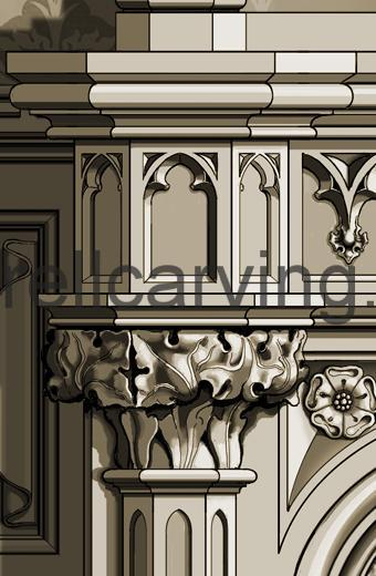 Gothic fire surround