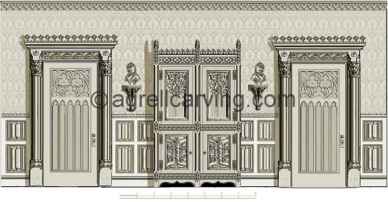 Gothic room North elevation