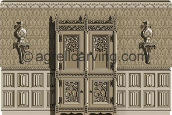 Gothic room West elevation