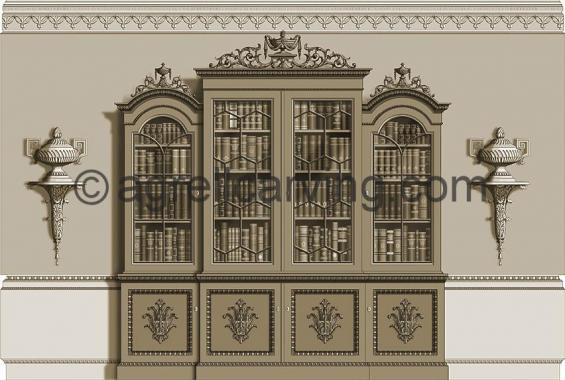 Neoclassical room East elevation