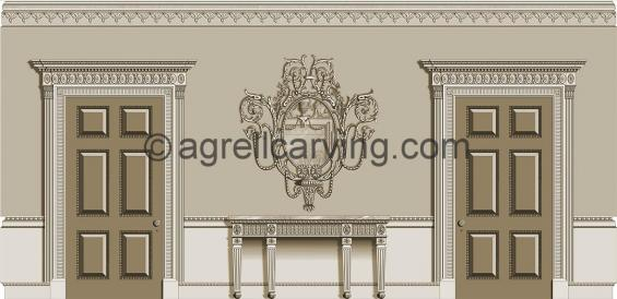 Neoclassical room North elevation