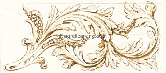 English renaissance acanthus