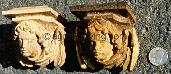 Angel finials