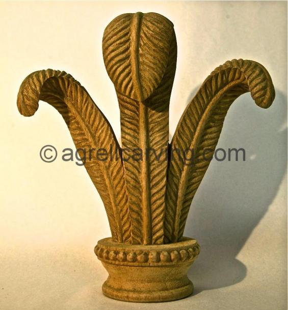Finial with Feathers