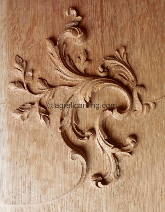 French oak panel