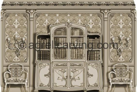 Nouveau bookcase