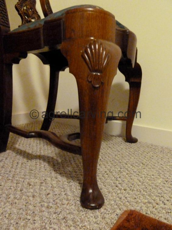 Early 18th century chair leg