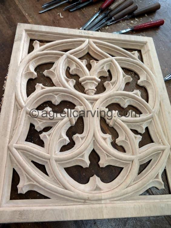 French tracery panel