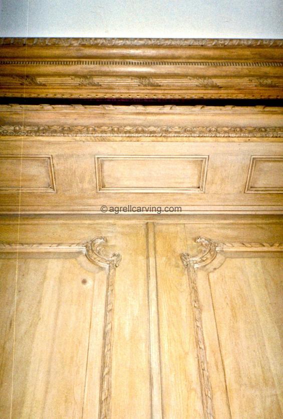 18th Century rococo door and cornice restoration