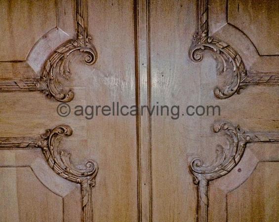 18th Century rococo door restoration