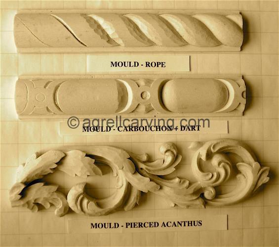 Example resin mouldings