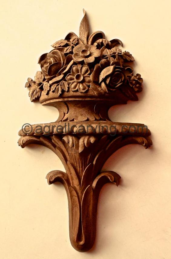 Finial with roses