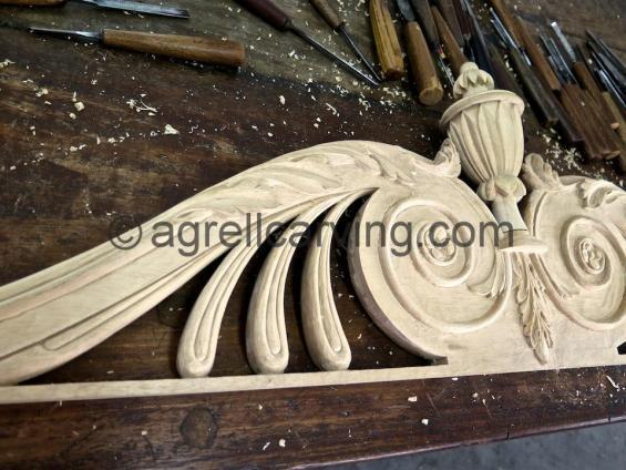 Thomas Sheraton carved pediment